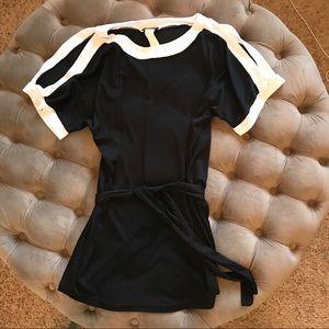Swim - Venus black with white trim coverup